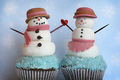 Snowman Cupcakes - cute-food photo