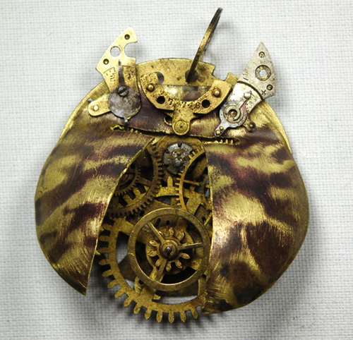 Steampunk wallpaper titled Steampunk Tiger Beetle