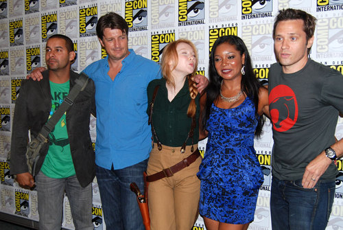 The castillo Crew Working the Press Line at SDCC