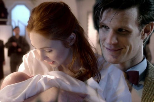 Eleven & Amy wallpaper possibly with a portrait titled The Doctor, Amy And Their Baby