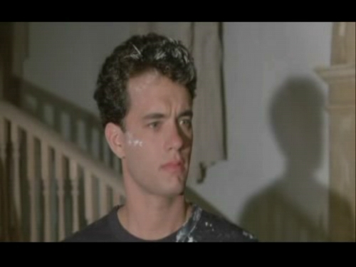 Tom Hanks achtergrond with a portrait titled The Money Pit