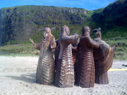 The statues of the Seven