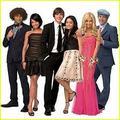 Troy, Gabriella, Sharpay, Chad, Taylor, Ryan
