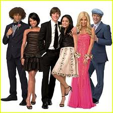 Troy, Gabriella, Sharpay, Chad, Taylor, Ryan