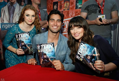 Tyler at Comic Con 2011 for Teen Wolf