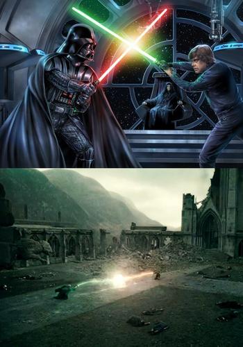 Vader vs luke and Harry vs Voltemort