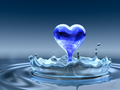Water Blue Heart