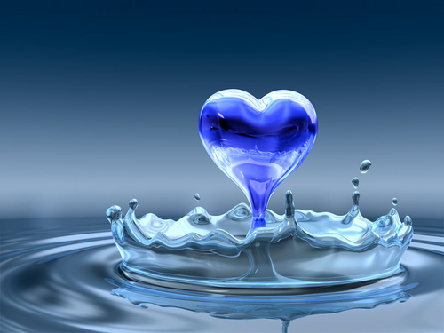 Hearts images water blue heart hd wallpaper and background photos hearts wallpaper probably with a martini and a vodka martini called water blue heart voltagebd Images