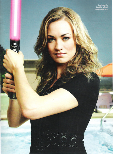 Yvonne Strahovski wallpaper titled Yvonne Strahovski in The Hollywood Reporter's 'Women Of Comic Con' Issue