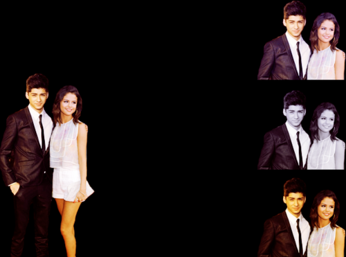Zayn Malik پیپر وال containing a business suit, a suit, and a dress suit called Zayn Malik & Selena Gomez!! 100% Real ♥