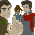 bolin, mako and korra
