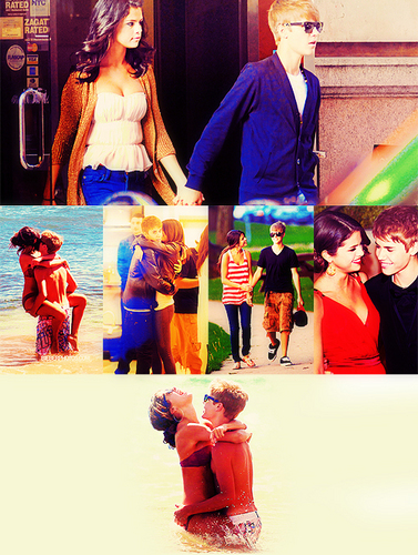 Justin Bieber and Selena Gomez wallpaper possibly with a bouquet and a sign titled jelena (true love) xD