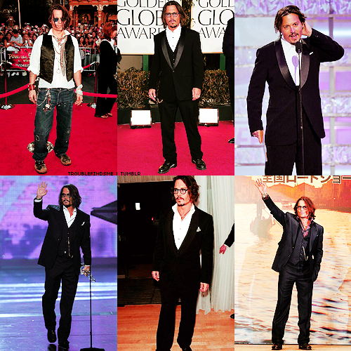 Johnny Depp wallpaper containing a business suit, a suit, and a well dressed person titled lovely outfits <3