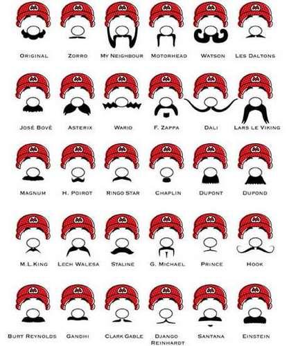mario moustaches