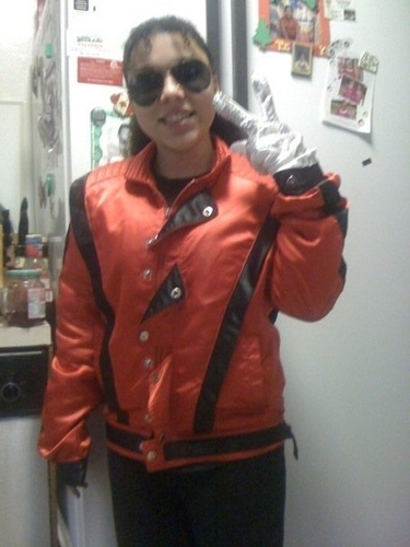 me as michael jackson for holoween :)