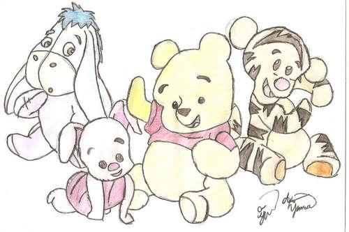 pooh drawings