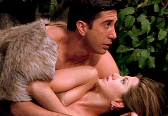 Ross and Rachel wallpaper containing a fur coat titled rr