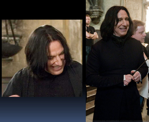 Severus Snape wallpaper possibly with a sign entitled smiling severus