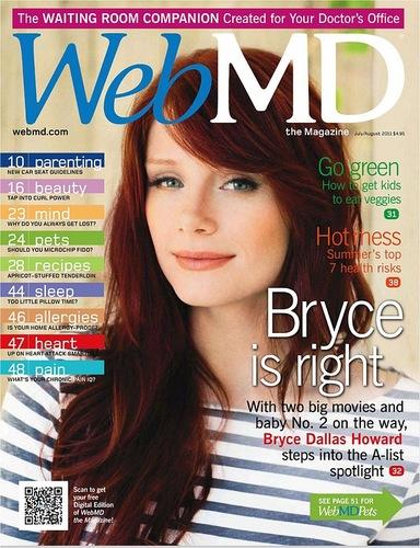 [HQ]Bryce Dallas Howard covers Web MD magazine