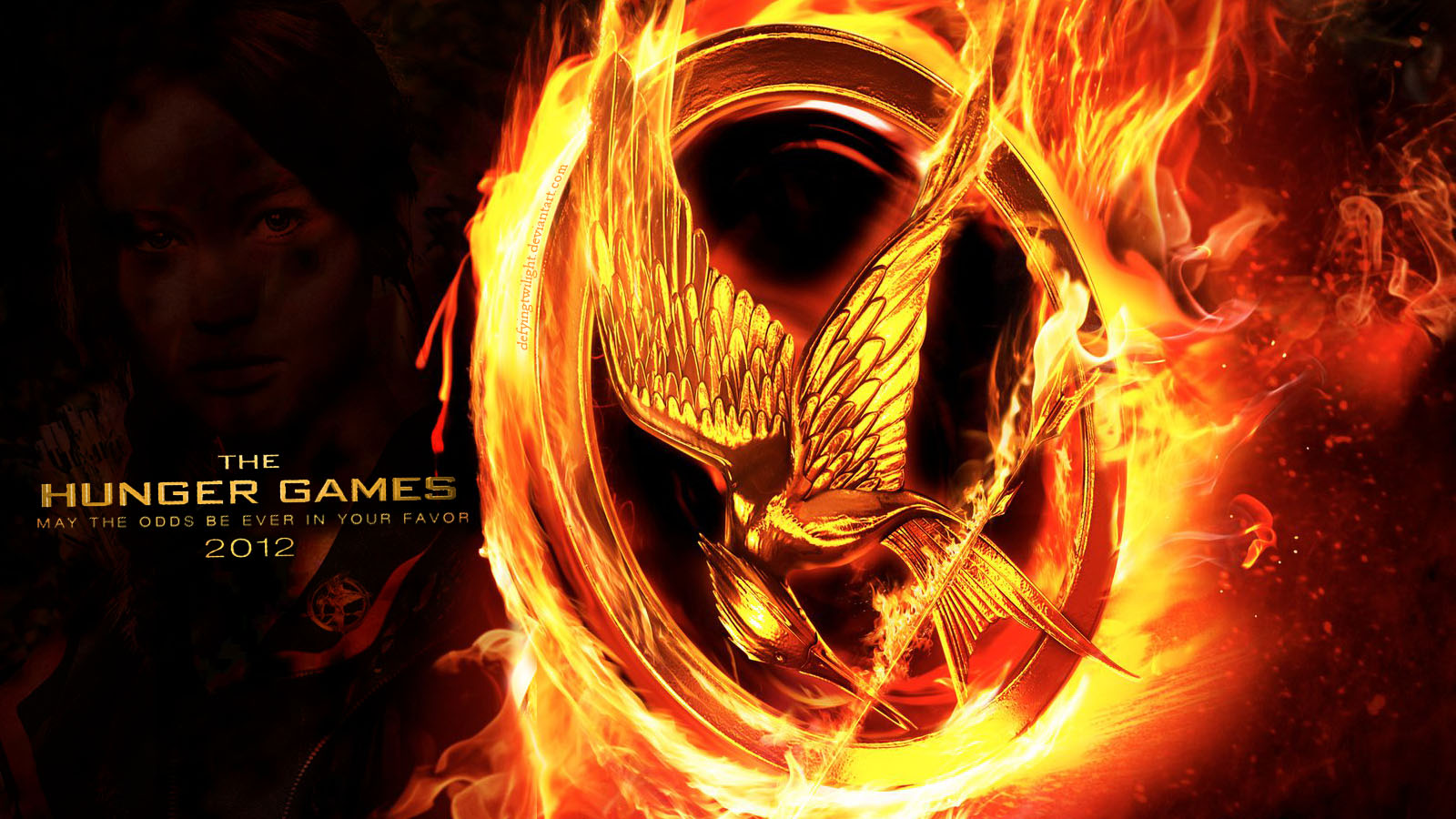 'The Hunger Games' Movie Poster پیپر وال