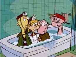 """""""What are आप dorks doing in my bathtub?!"""""""