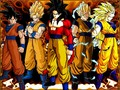 4 forms of Goku - micketo wallpaper