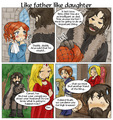 Like Father Like Daughter - a-song-of-ice-and-fire fan art