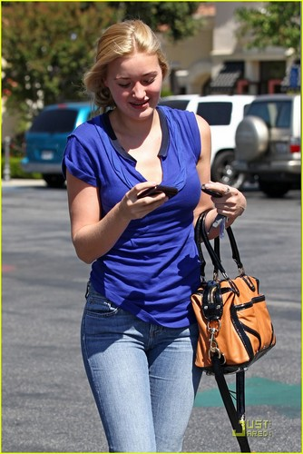 AJ Michalka July 25 around Calabasas, Ca