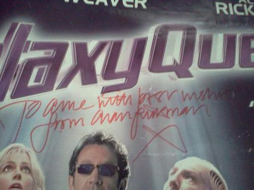 AR's signature on my GQ poster :)