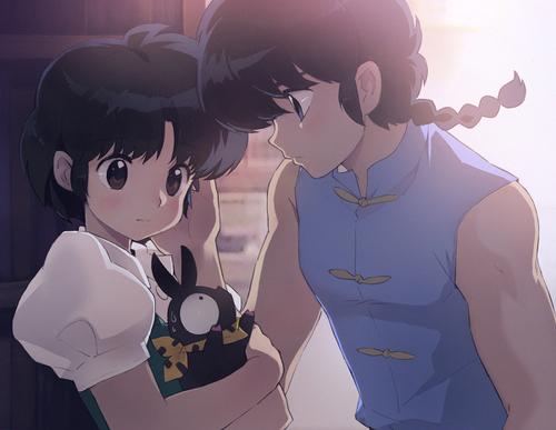 Akane, Ranma, and P-chan