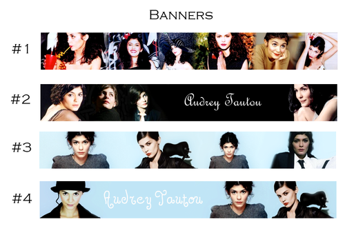 Audrey Tautou - Banners