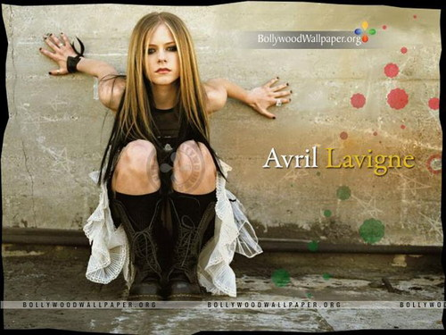 Аврил Лавин Обои with a portrait entitled Avril Lavigne