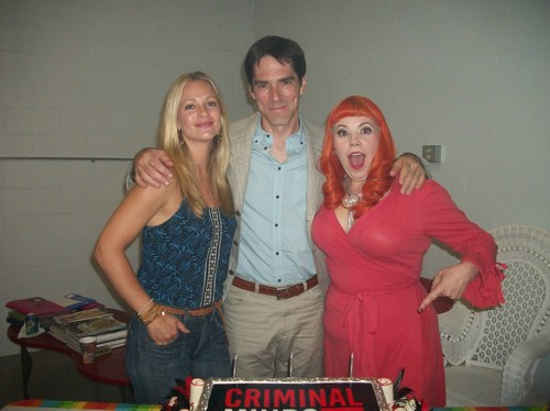 Thomas Gibson wallpaper possibly with a sign titled Birthday fun