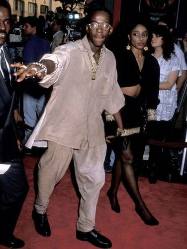 "Bobby Brown and Karyn White attend ""Ghostbusters II"" Hollywood Premiere 1989"