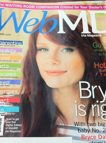 Bryce Dallas Howard covers Web MD magazine