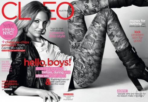 Cameron Diaz for Cleo Australia August 2011