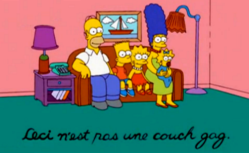 the simpsons wallpaper containing anime entitled Ceci n'est pas une dipan, sofa gag