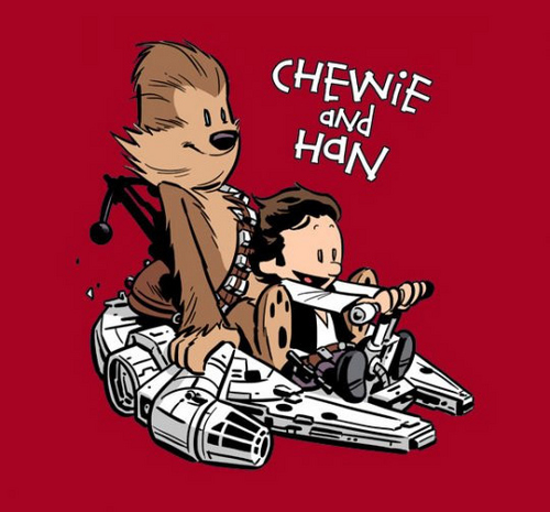 Chewie and Han (Calvin and Hobbes style)