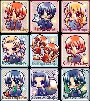 Chibi Potters - harry-potter-anime Photo