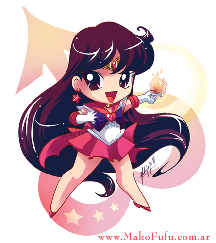 Sailor Mars(Raye) Hintergrund called Chibi Sailor Mars / Mako-fufu