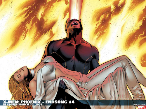X-Men wallpaper containing anime titled Cyclops and Emma Frost