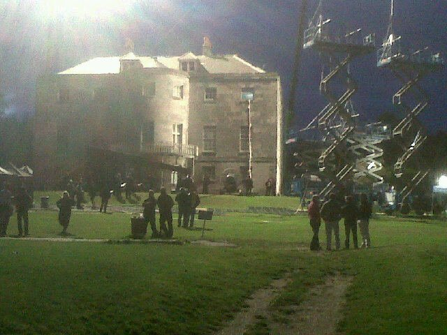 Dark Shadows film set
