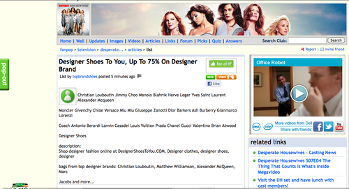 Desperate Housewives Designer shoes? O_o