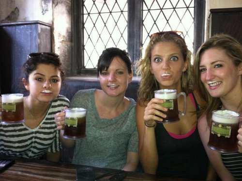 First day off in Harry Potter Land we my girls in Orlando Florida. Having some butter beer.