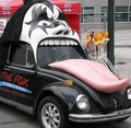 Funny KISS car with tongue