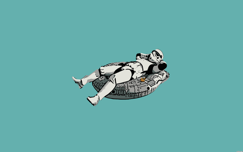 Star Wars wallpaper probably containing an outboard motor called Funny Stormtrooper Wallpaper