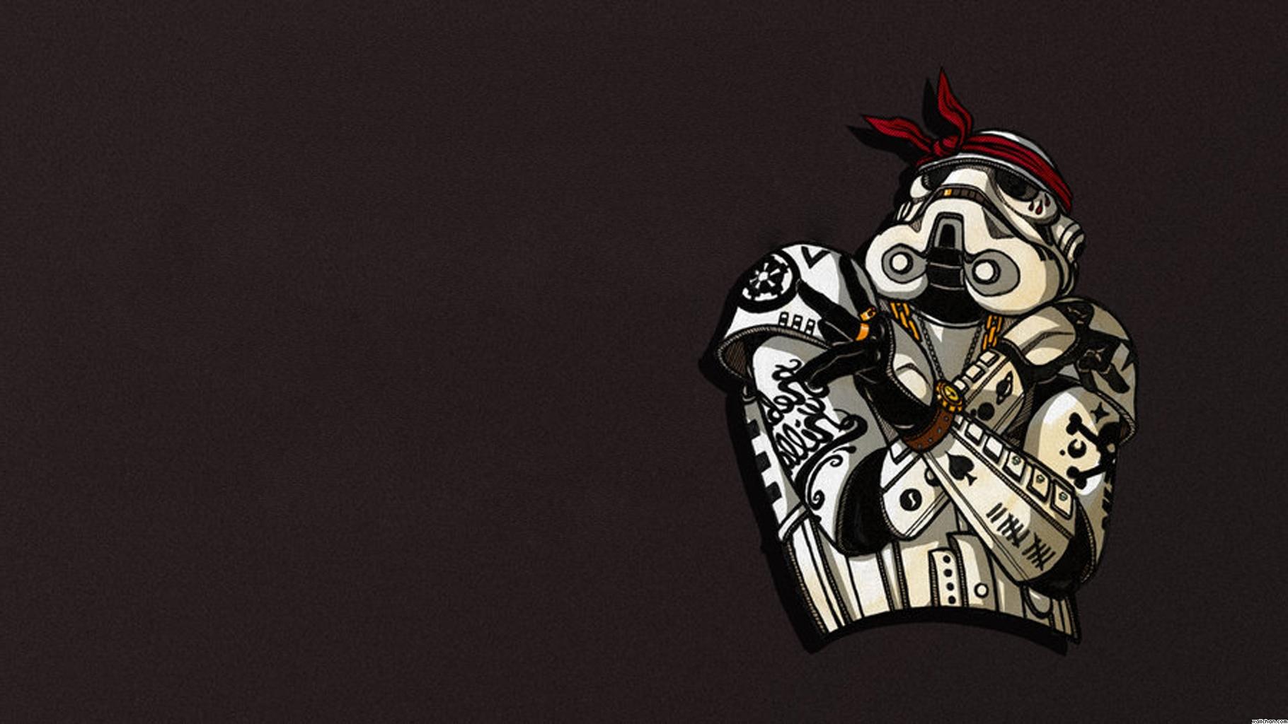 Funny Stormtrooper wallpaper