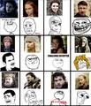 GoT characters as internet memes