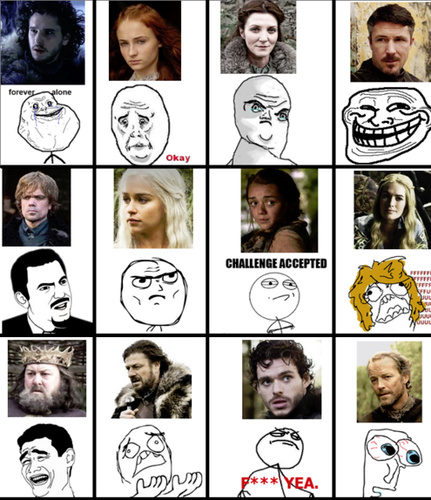 GoT characters as internet memes - game-of-thrones Fan Art