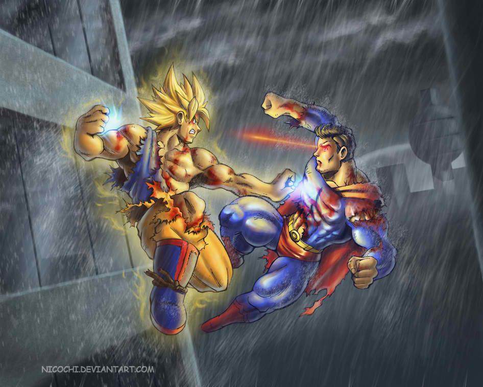 Goku vs Superman - Micketo Photo (24194292) - Fanpop